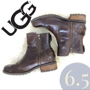 UGG Shoes - UGG Women's Orion Leather Casual Ankle Boots Stout